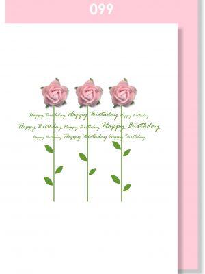 3 ROSES BIRTHDAY