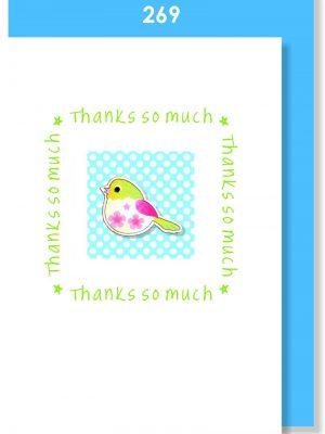 BLUE BIRDIE THANK YOU
