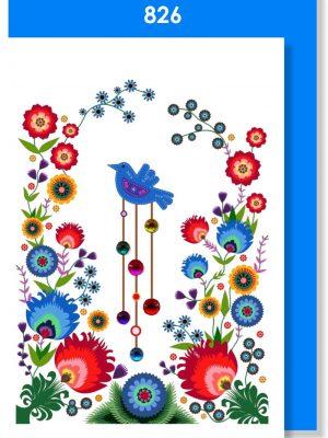 BLUE FLORAL BIRDY