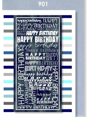 BLUE/GREY BIRTHDAY STRIPE