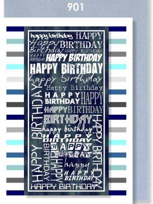 BLUE/GREY BIRTHDAY STRIPE