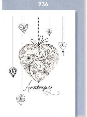 HANGING ANNIVERSARY HEARTS