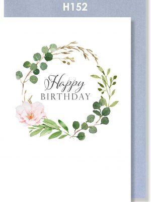 Handmade Card, Birthday Card, Botnical Wreath