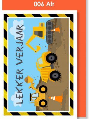 Handmade card, Afrikaans card, Lekker verjaar