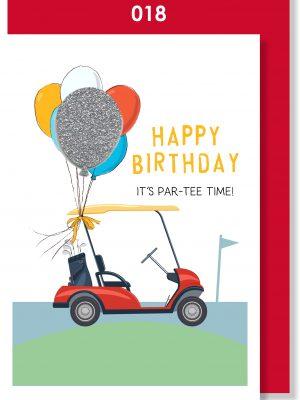 Handmade card, Birthday card, Golf