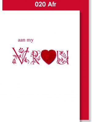 Handmade Card, Afrikaans Card, Vrou
