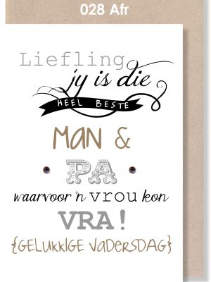 Handmade Card, Afrikaans Card, Vadersdag, Father's Day