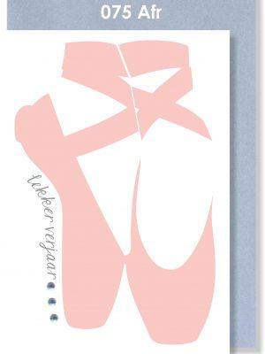 Handmade cards, Birthday Card, Ballet, Afrikaans Card, Verjaarsdagkaartjie
