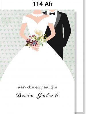 Handmade card, Afrikaans card, Troukaarjie