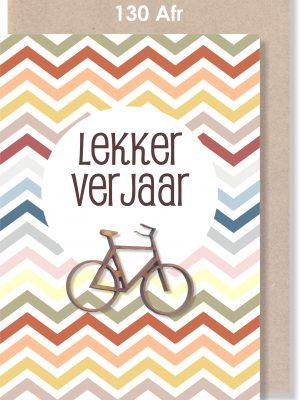 Handmade Card, Birthday Card, Male Card, Bicycle, Afrikaans Card, Verjaarsdagkaartjie