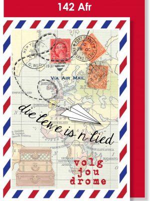 Handmade Card, Afrikaans Card, Reis, Volg jou drome