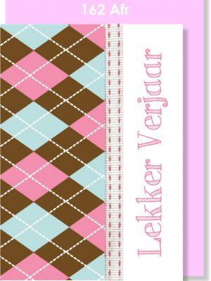 Handmade Card, Birthday Card, Lady Golfer, Afrikaans Card, Verjaarsdagkaartjie
