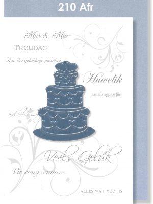 Handmade card, Afrikaans card, Troukaartjie, Troukoek