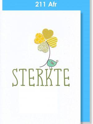 Handmade Card, Afrikaans Card, Sterkte