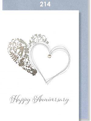 Handmade card, Anniversary