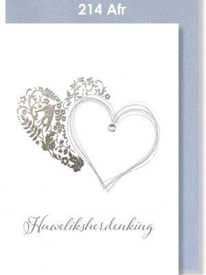 Handmade card, Afrikaans card, Huweliksherdenking