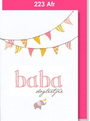Handmade Greeting Card, Afrikaans babakaartjie, Baby Card