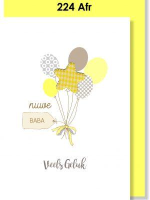 Handmade Cards, Afrikaans Cards, Babakaartjies