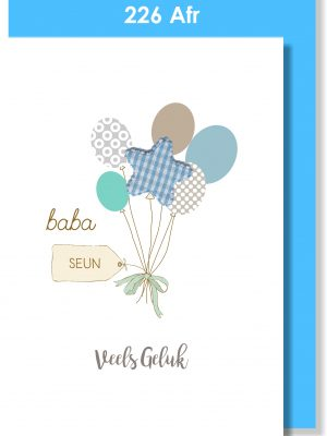 Handmade cards, Baby cards, Afrikaans cards, Babakaartjie