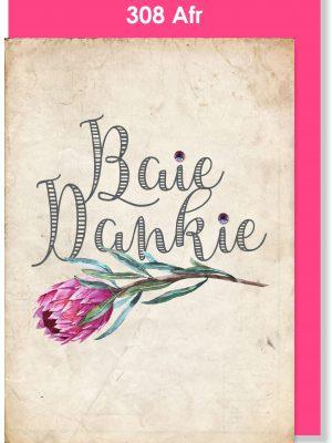 Handmade Card, Thank You Card, Afrikaans Card, Dankiekaartjie