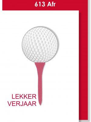 Handmade Card, Birthday Card, Afrikaans Card, Verjaarsdagkaartjie, Golf