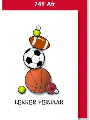Handmade Card, Birthday Card, Afrikaans Card, Verjaarsdagkaartjie, Sports