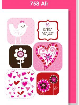 Handmade Card, Birthday Card, Afrikaans Card, Verjaarsdagkaartjie