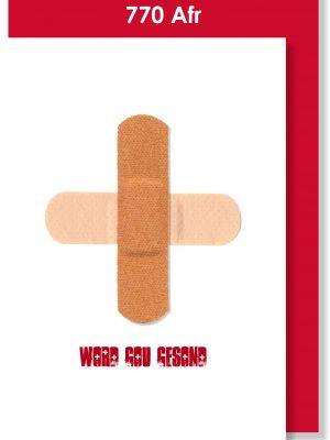 Handmade Card, Afrikaans Card, Get Well Soon, Word Gou Gesond