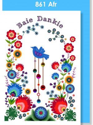 Handmade Card, Afrikaans Card, Baie Dankie