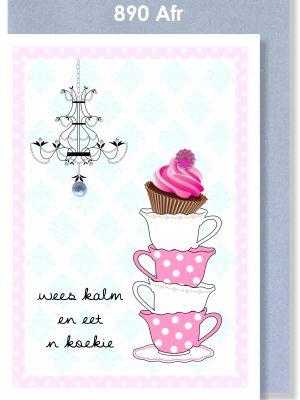 Handmade Card, Birthday Card, Afrikaans Card, Verjaarsdagkaartjie, Cupcake