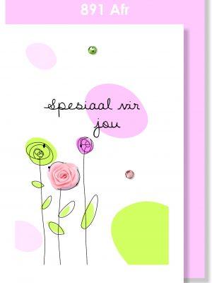 Handmade Card, Afrikaans card, Spesiaal vir jou