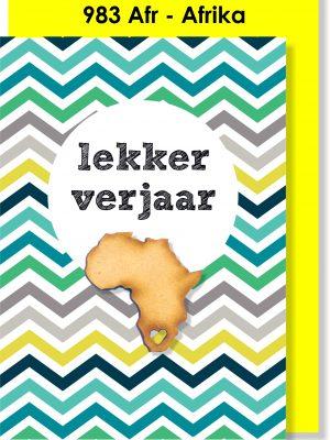 Handmade Card, Birthday Card, Afrikaans Card, Verjaarsdagkaartjie, Afrika