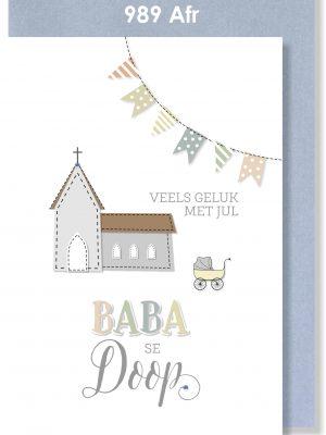 Handmade cards, Baby Card, Christening Card, Afrikaans Card, Baba Doop Kaartjie