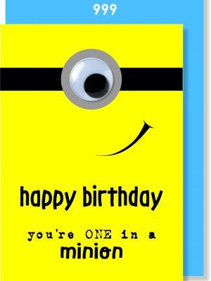 Handmade Card, Birthday Card, Minion