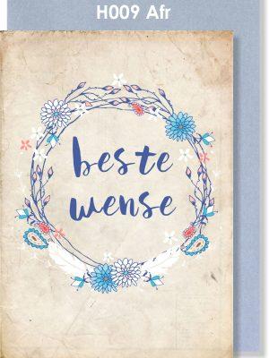 Handmade card. Afrikaans card. Troukaartjie, Beste Wense