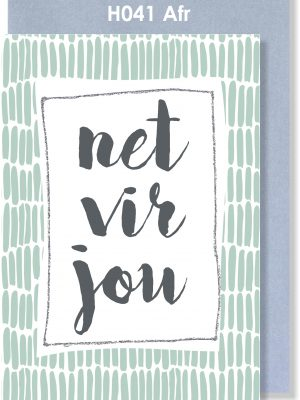 Handmade Card, Afrikaans Card, Net vir jou