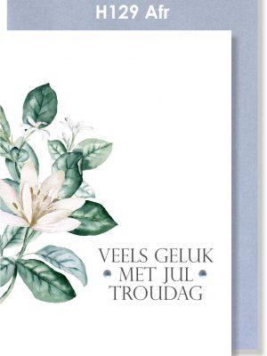 Handmade card, Afrikaans card, Troukaartjie