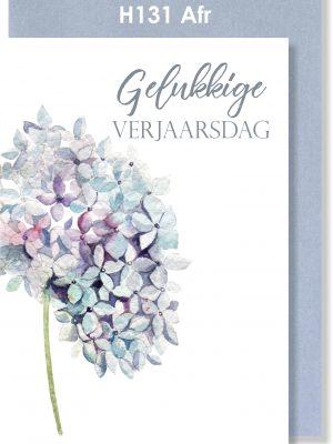 Handmade Card, Birthday Card, Afrikaans Card, Verjaarsdagkaartjie, Krismisroos, Hydrangea