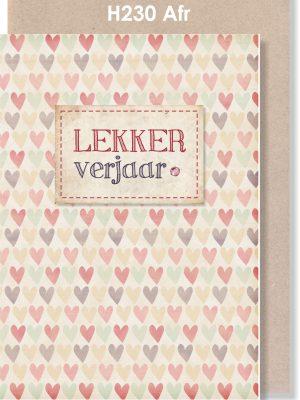 Handmade Card, Afrikaans Card, Verjaarsdag