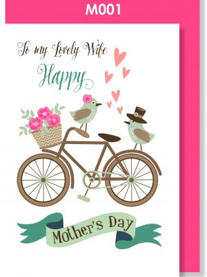 Handmade Card, Mother's Day, Wife