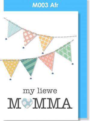 Handmade card, Afrikaans Card, Moedersdag, Mamma