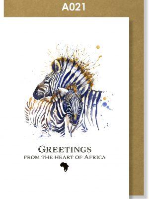 Greeting Card, Zebra, African, Big 5