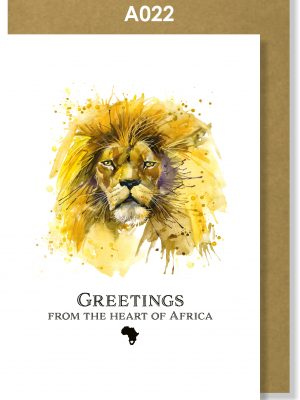 Greeting Card, Lion, African, Big 5
