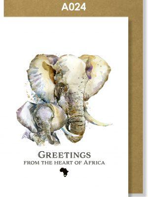 Greeting Card, Elephant, African, Big 5