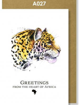 Greeting Card, Leopard, African, Big 5