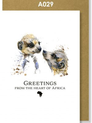 Greeting Card, Meerkat, African