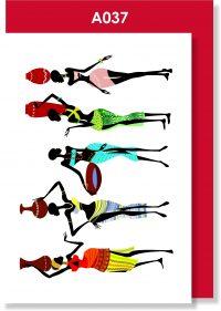 Greeting Card, African Ladies, Tribal Women