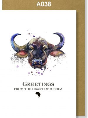 Greeting Cards, Buffalo, African, Big 5