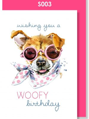 birthday card, happy birthday, doggie, cute