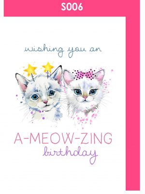 happy birthday, birthday card, kitties, cute
